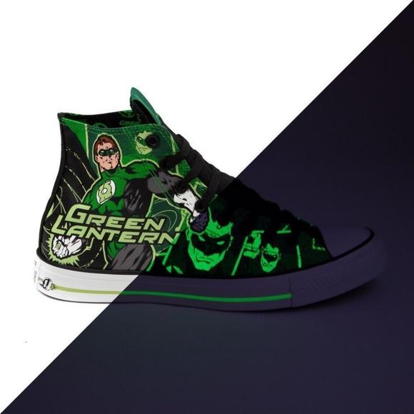 60f60fdfd8eb1c Converse Other - Converse Green Lantern Glow in Dark Chuck Taylors